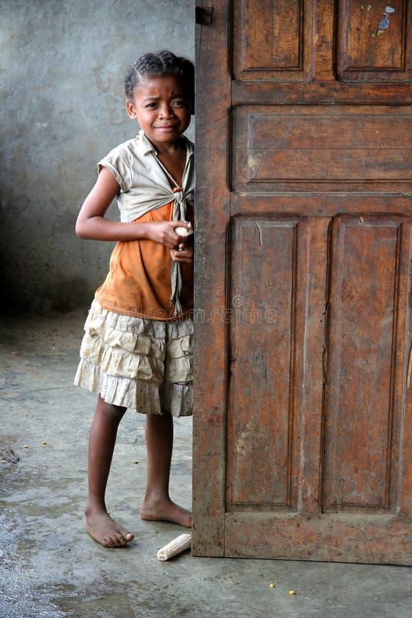 Jong meisje van Madagascar royalty-vrije stock afbeelding