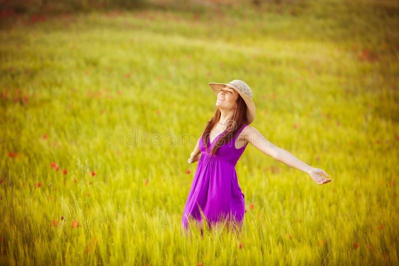 Het genieten van de van lente royalty-vrije stock foto