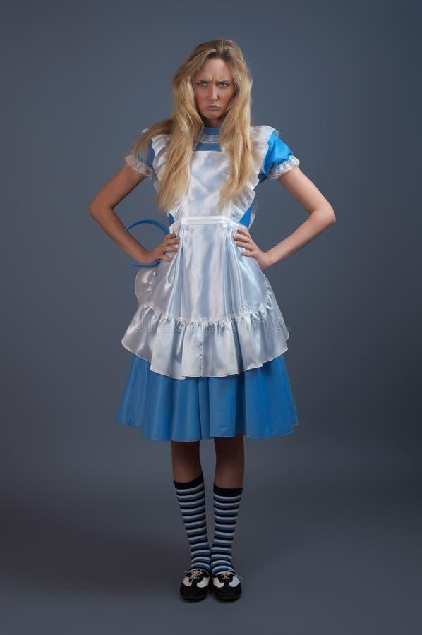 Jong mooi meisje in fee-verhaal kleding stock afbeelding