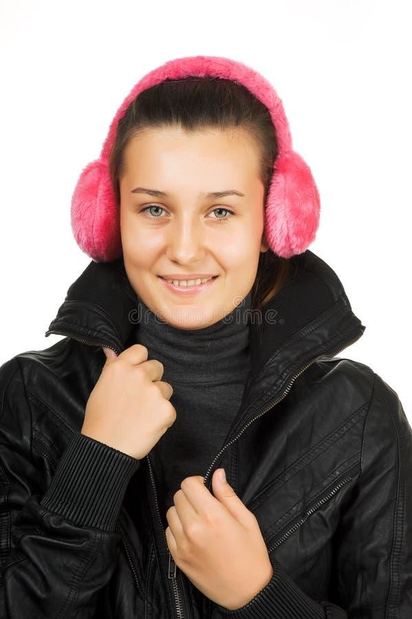 Jong mooi meisje in het jasje stock afbeeldingen