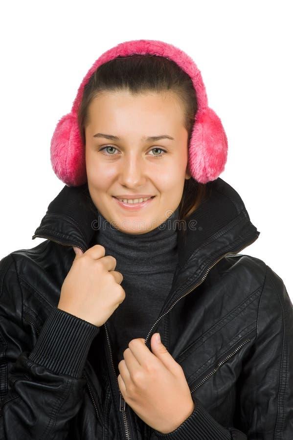 Jong mooi meisje in het jasje stock afbeelding