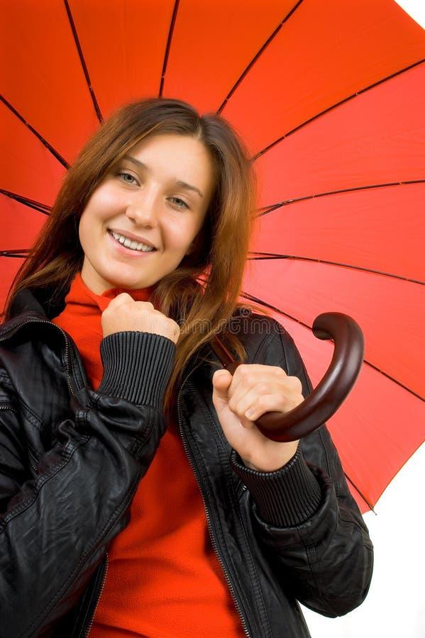 Jong mooi meisje met paraplu royalty-vrije stock foto
