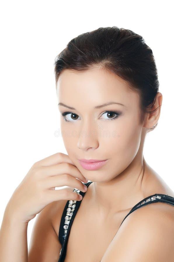Jong mooi meisje met samenstelling royalty-vrije stock foto