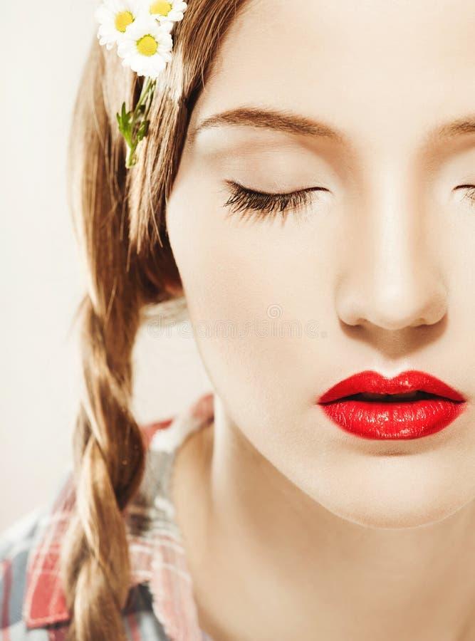 Jong mooi meisjesportret stock foto