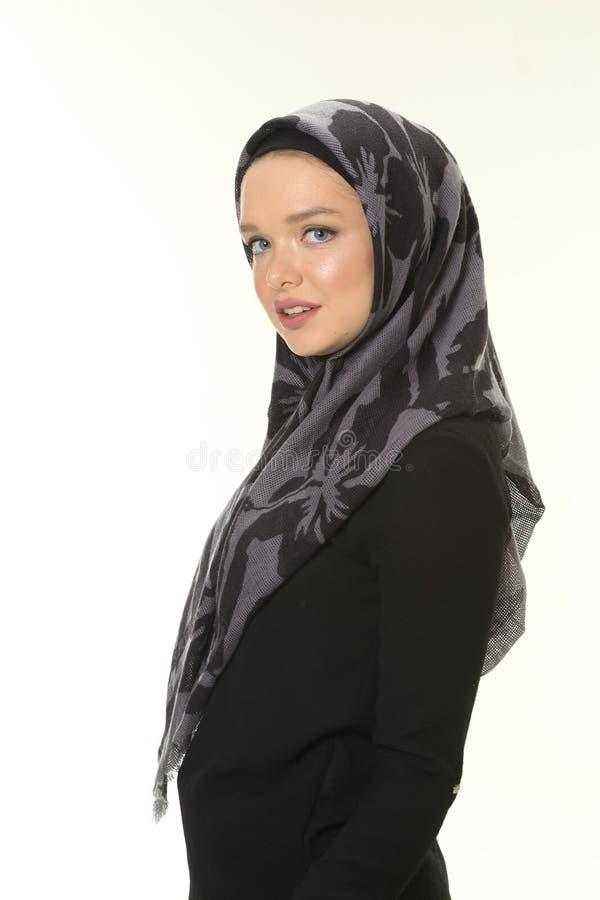 Jong Moslimvrouwenportret royalty-vrije stock foto's