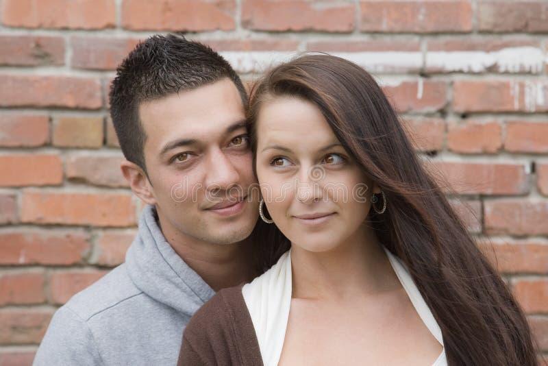 Jong Multiraciaal Paar stock afbeelding