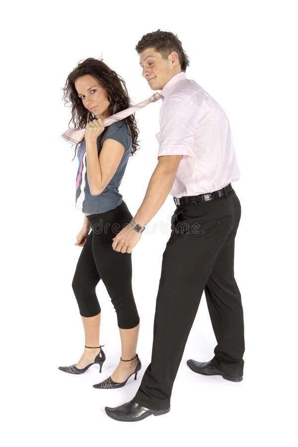 Jong paar - slaaf van liefde stock foto's