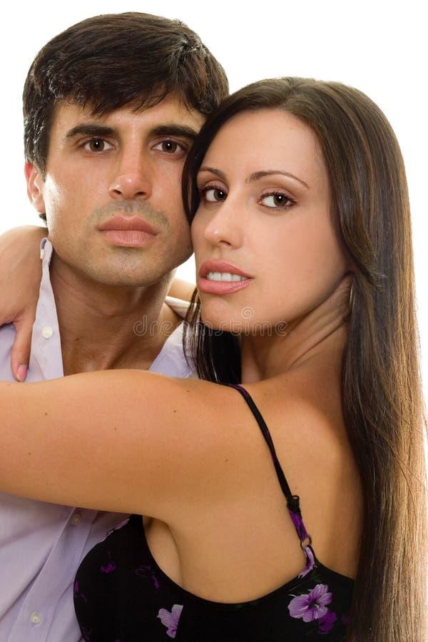 Jong romantisch paar in liefde royalty-vrije stock foto's