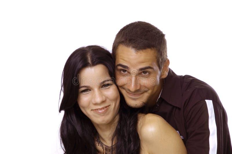 Jong Spaans paar royalty-vrije stock foto's