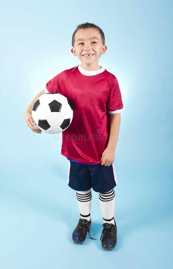 Jong Spaans Voetballerportret stock foto's