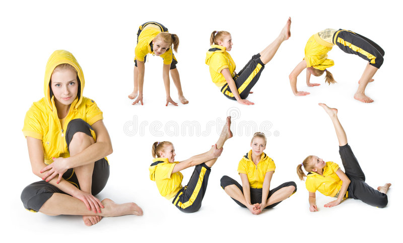 Jong sportief meisje royalty-vrije stock fotografie