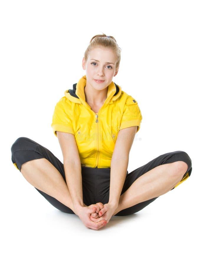 Jong sportief meisje stock afbeelding