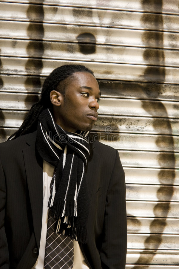 Jong Stedelijk Afrikaans Amerikaans Mannetje stock fotografie
