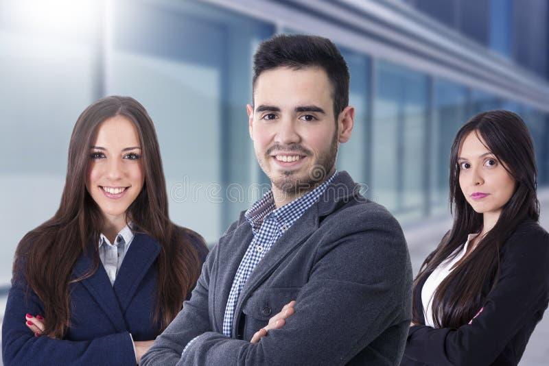 Jong team van directeuren stock foto's