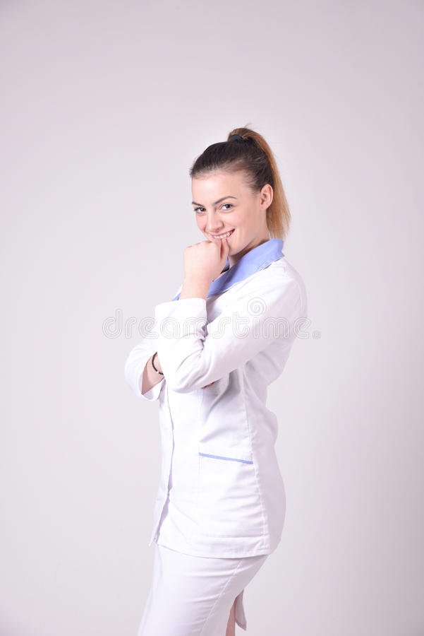Jong verpleegstersportret royalty-vrije stock foto's