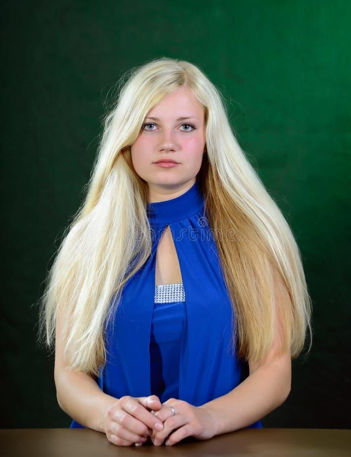 Jong Vrouwenportret. stock afbeeldingen