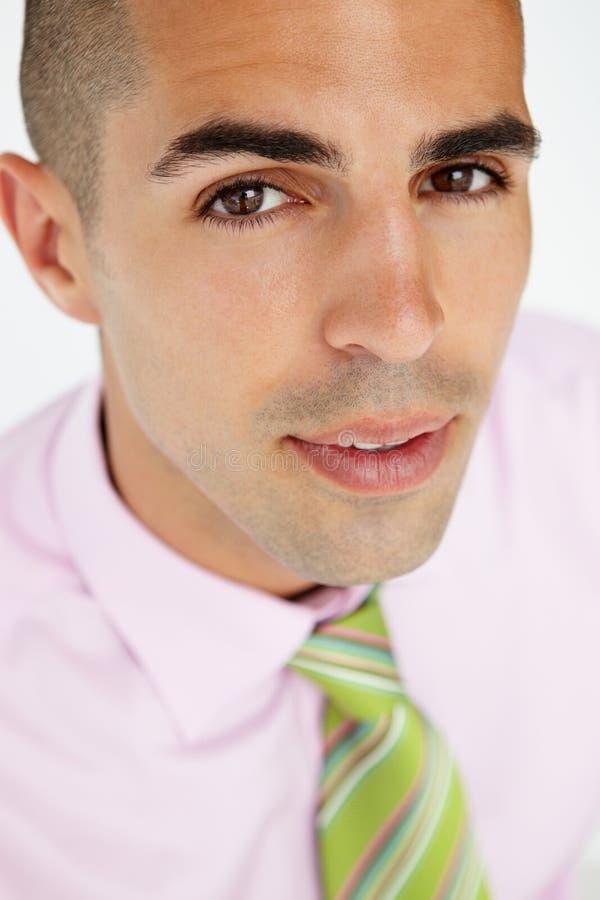 Jong zakenmanhoofd en schoudersgewas stock fotografie