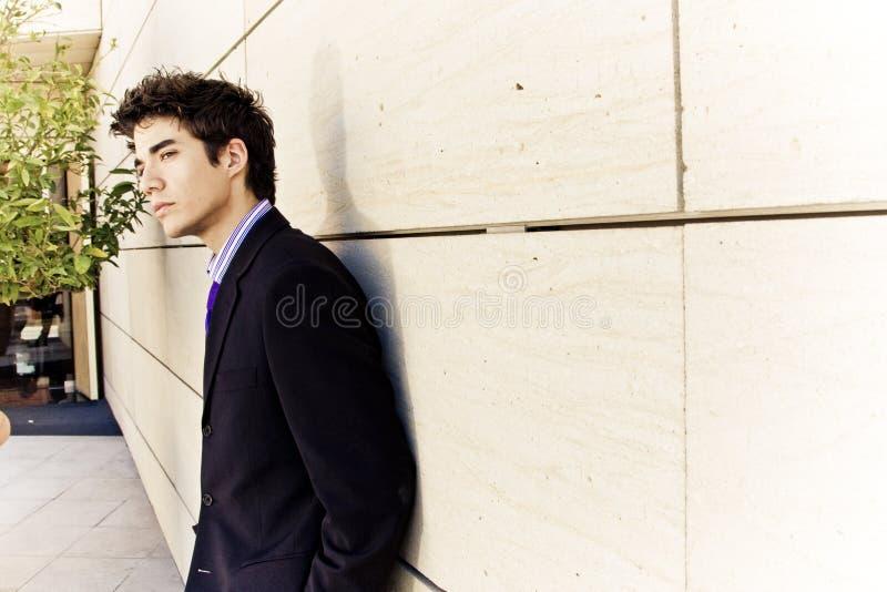 Jong zakenmanportret royalty-vrije stock afbeeldingen