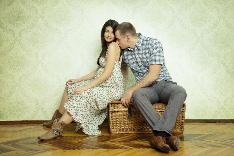 Zwanger paar royalty-vrije stock foto's