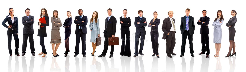Jonge aantrekkelijke bedrijfsmensen royalty-vrije stock afbeeldingen