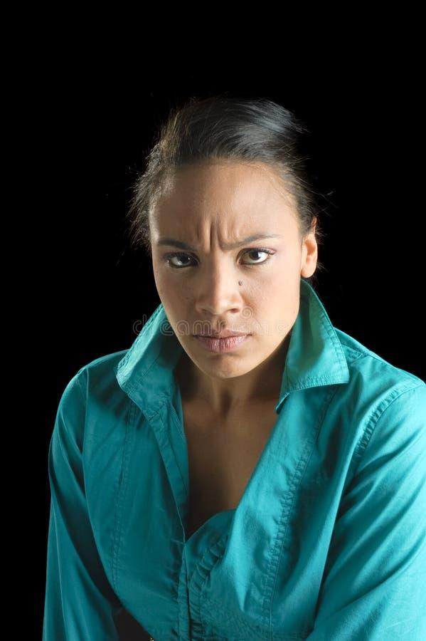Jonge Afrikaanse Amerikaanse vrouw stock foto's