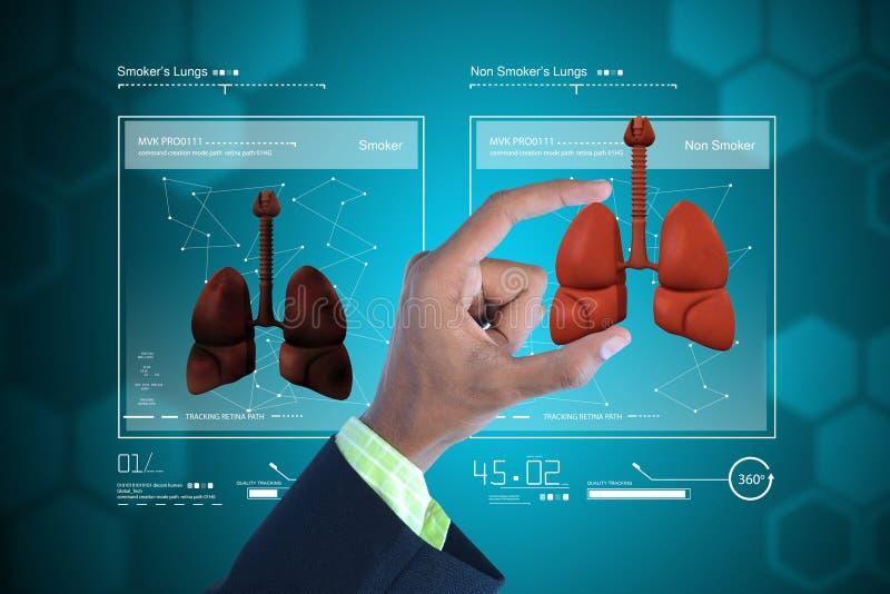 Jonge arts die longen tonen vector illustratie
