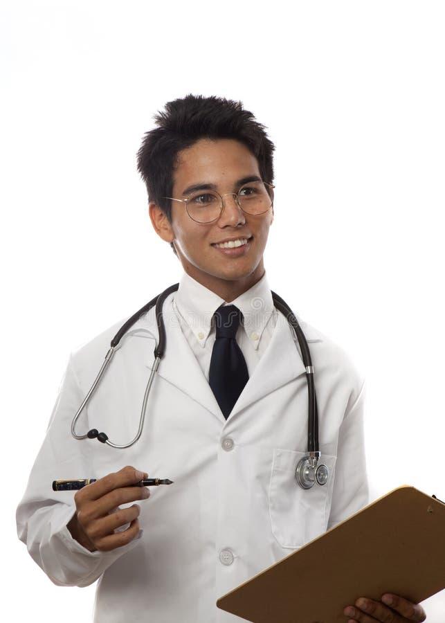 Jonge Aziatische medische student stock fotografie