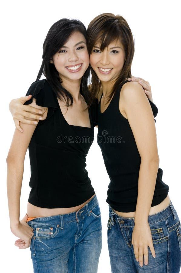 Jonge Aziatische Vrouwen royalty-vrije stock afbeeldingen