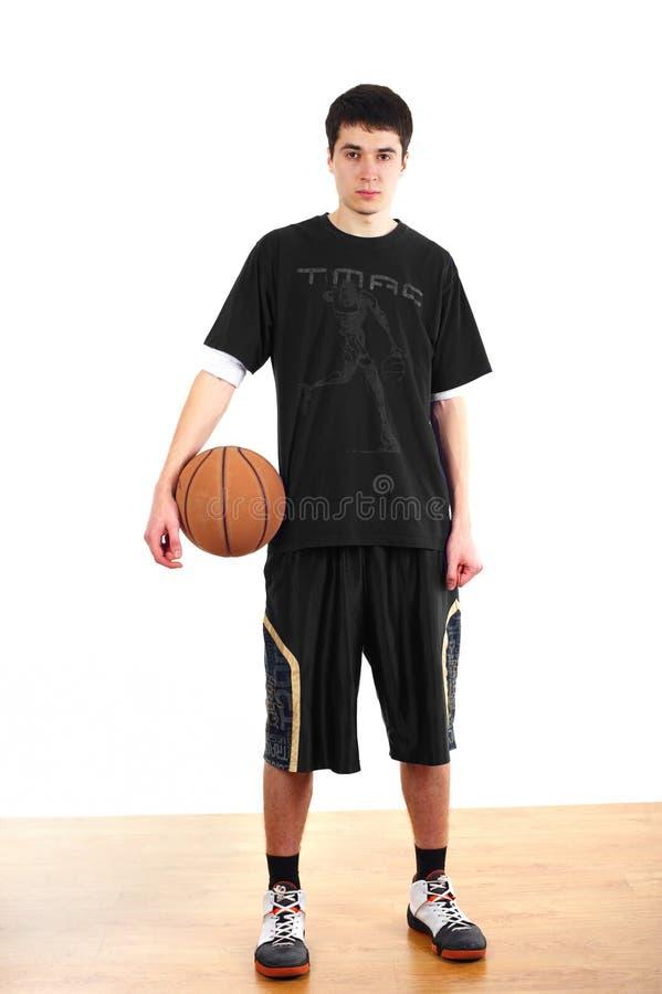 Jonge basketbalspeler royalty-vrije stock foto