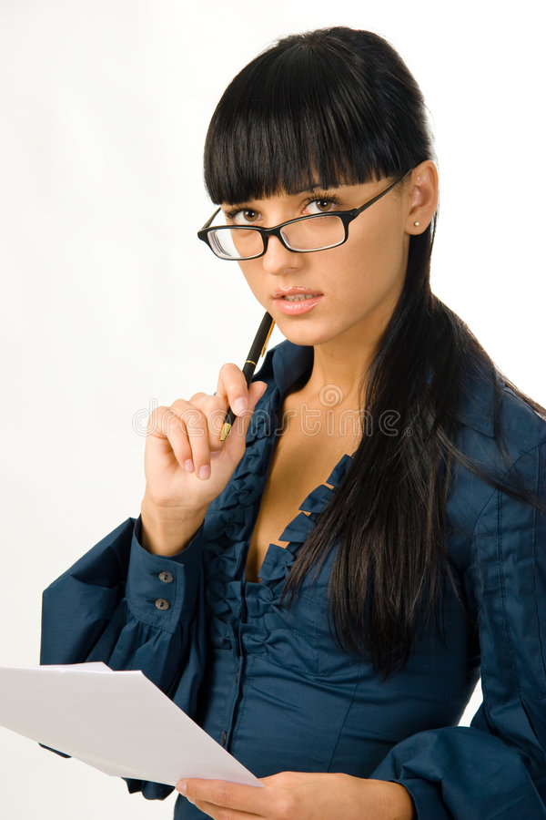 Jonge bedrijfsvrouw stock afbeelding