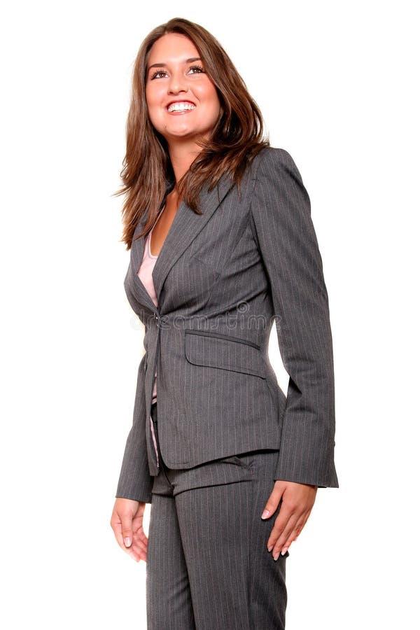 Jonge bedrijfsvrouw in kostuum royalty-vrije stock foto