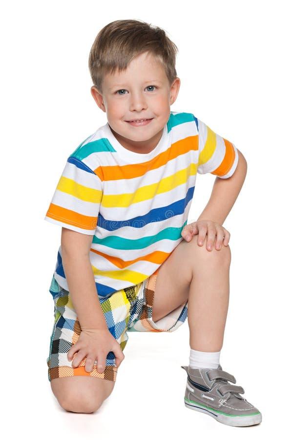 Jonge blonde jongen royalty-vrije stock afbeeldingen