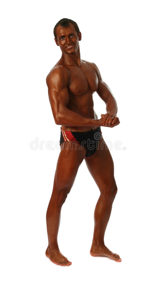 Jonge bodybuilder stock foto's