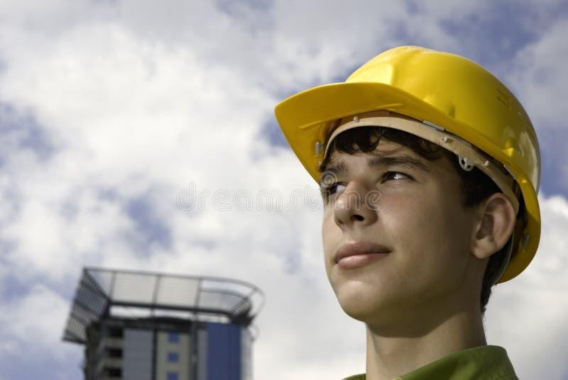 Jonge bouwer stock fotografie
