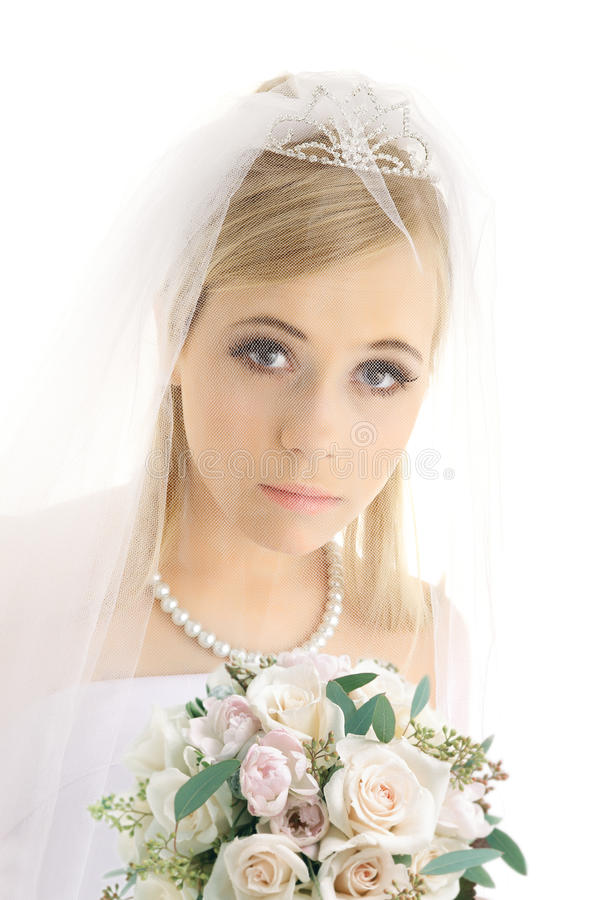 Jonge bruid royalty-vrije stock fotografie