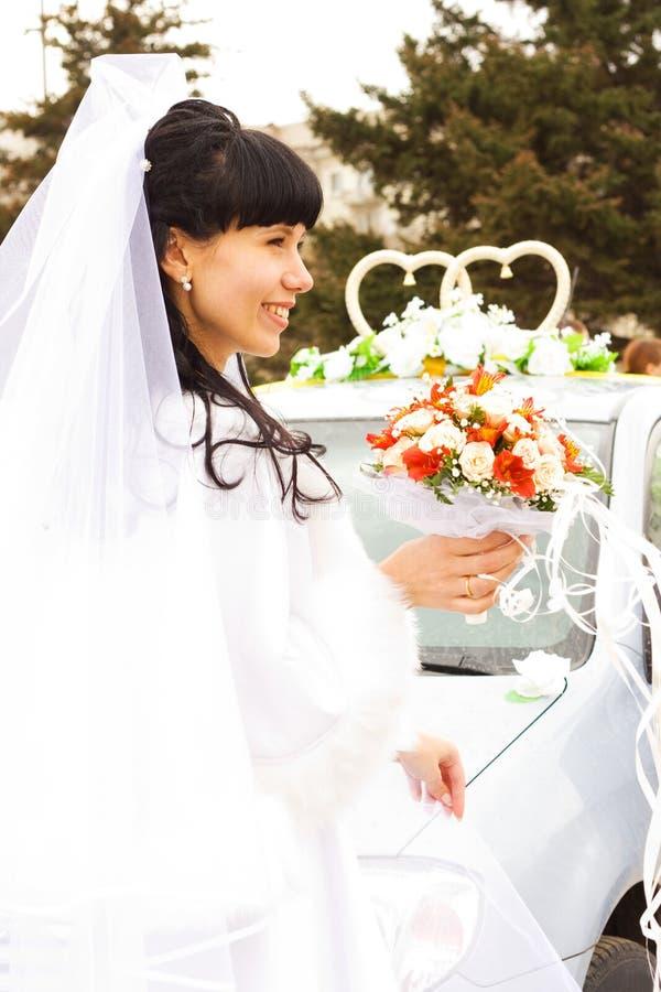 Jonge bruid stock foto