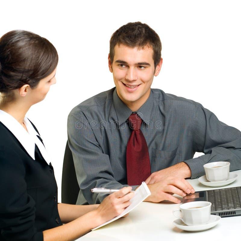 Jonge businesspeople twee stock fotografie