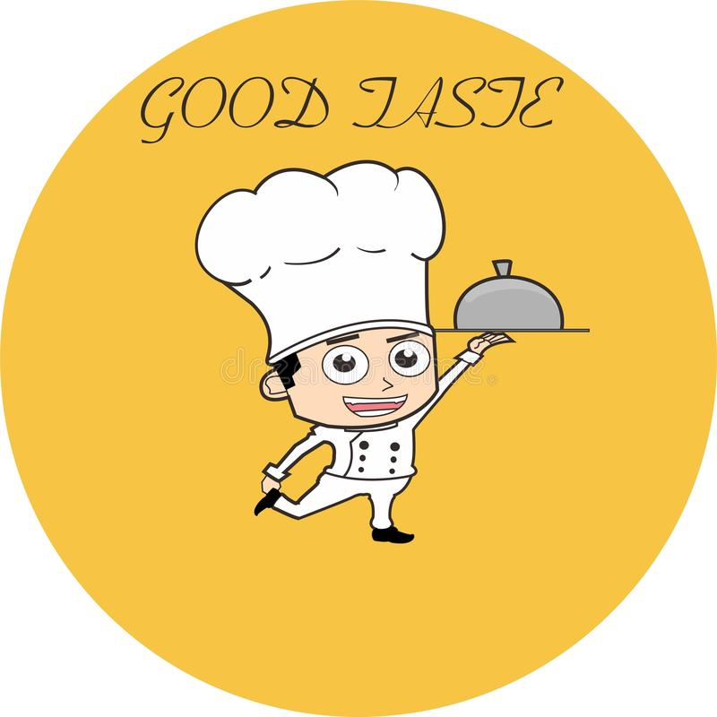 Jonge chef-kok stock fotografie