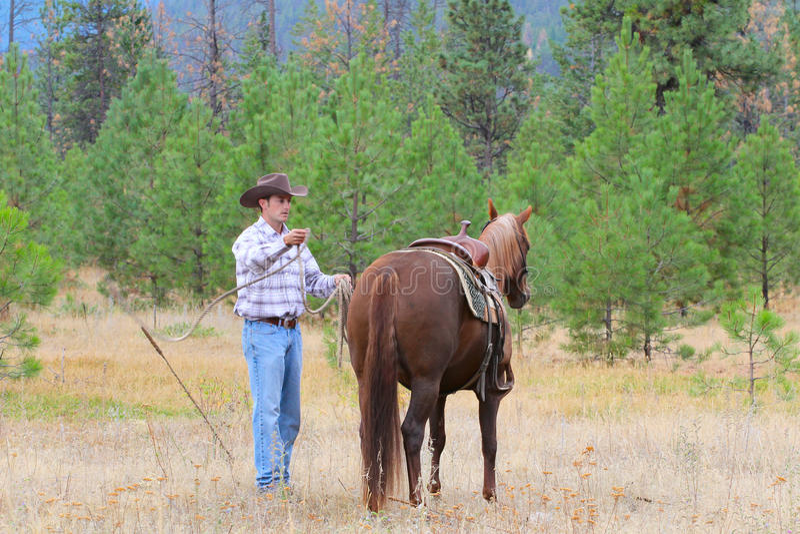 Jonge Cowboy royalty-vrije stock fotografie