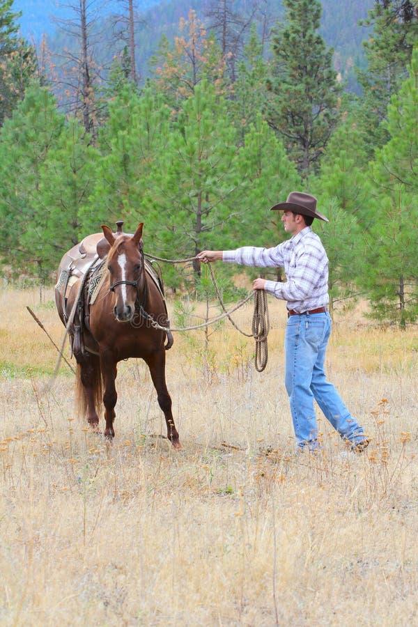 Jonge Cowboy royalty-vrije stock foto's