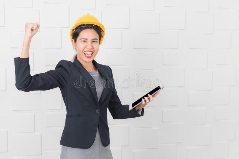 Jonge dameinspecteur stock afbeelding