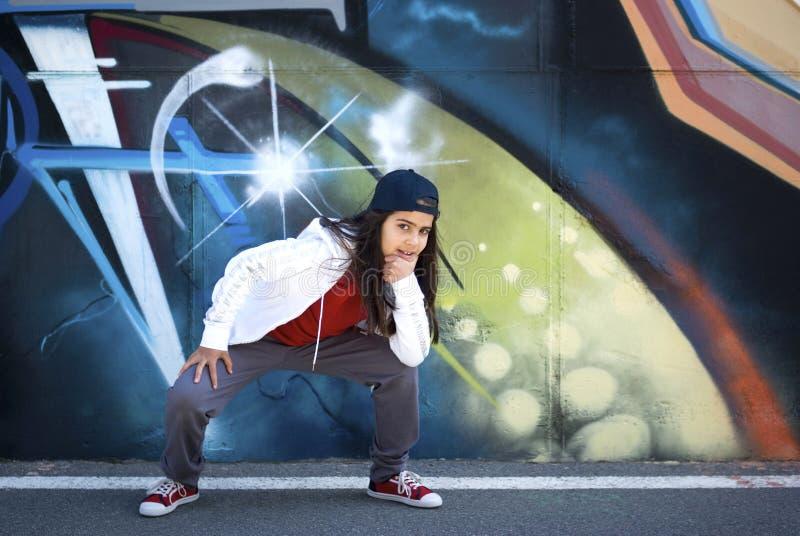 Jonge danser Hip-Hop stock afbeelding