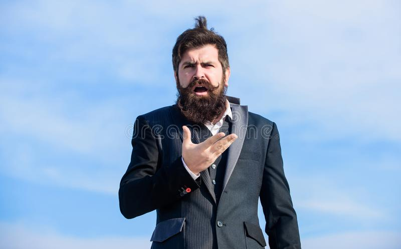 Jonge deskundigheid Toekomstig succes storing hipster Charismatisch mannetje Mannelijke formele manier Brutale hipster met royalty-vrije stock fotografie