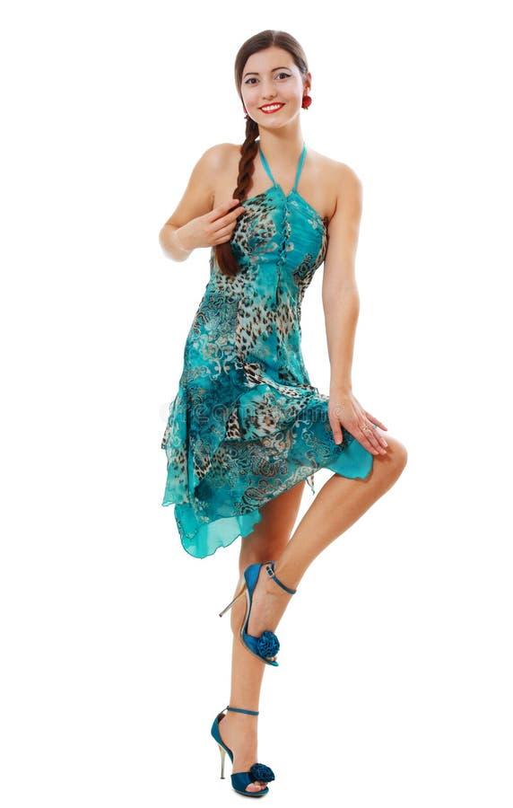 Jonge donkerbruine vrouw royalty-vrije stock afbeelding