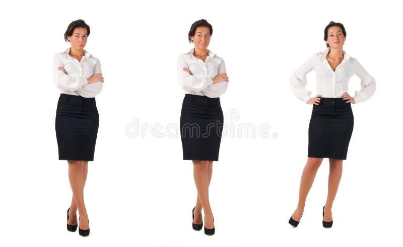 Jonge donkere haired bedrijfsvrouw royalty-vrije stock afbeeldingen