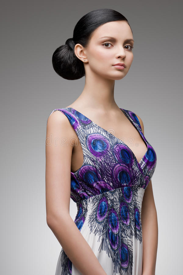 Jonge elegante brunette stock afbeeldingen