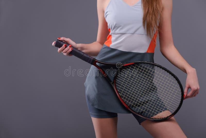 Jonge en sexy tennisspeler stock afbeeldingen