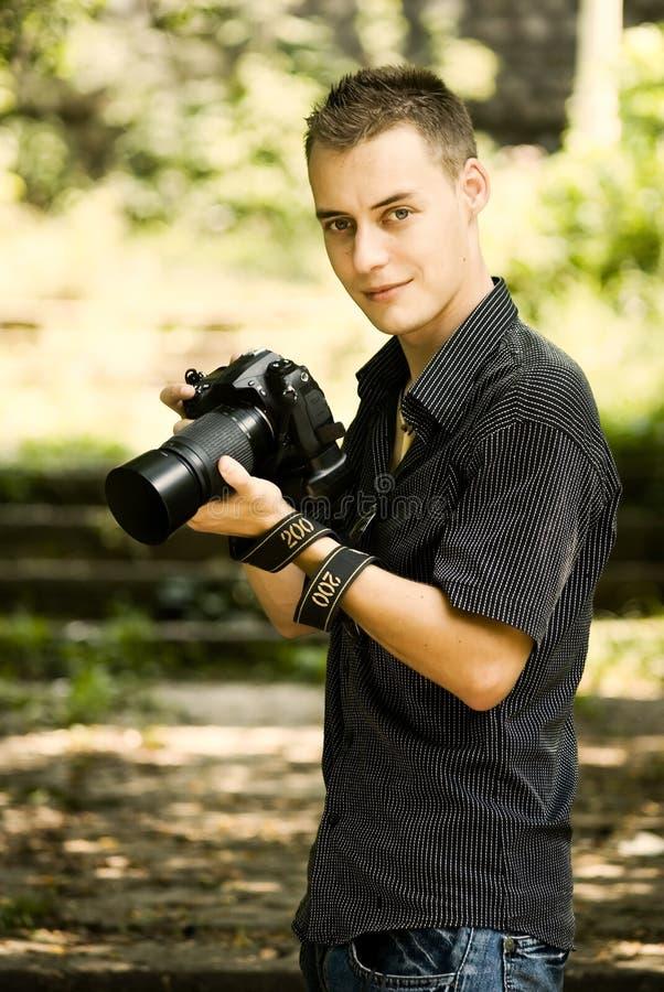 Jonge Fotograaf Royalty-vrije Stock Fotografie