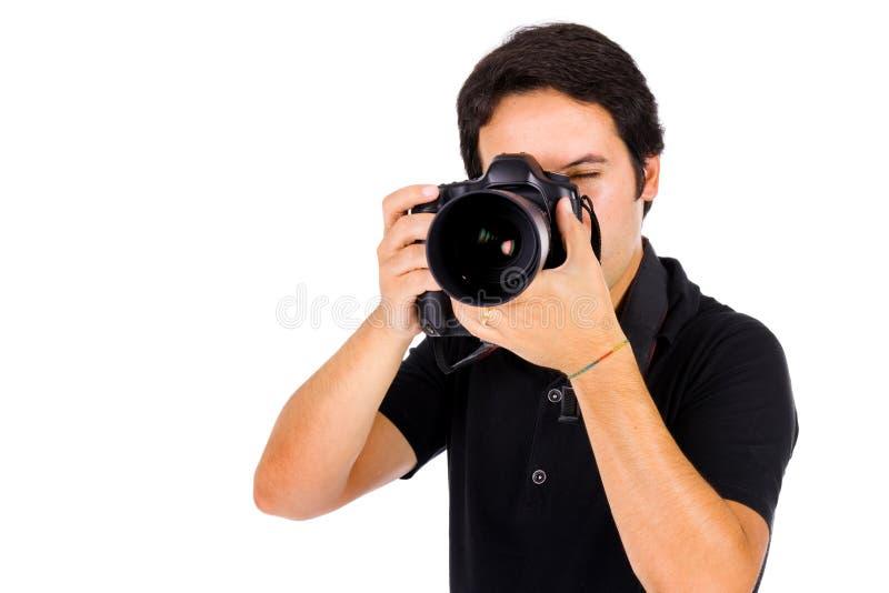 Jonge fotograaf royalty-vrije stock afbeeldingen
