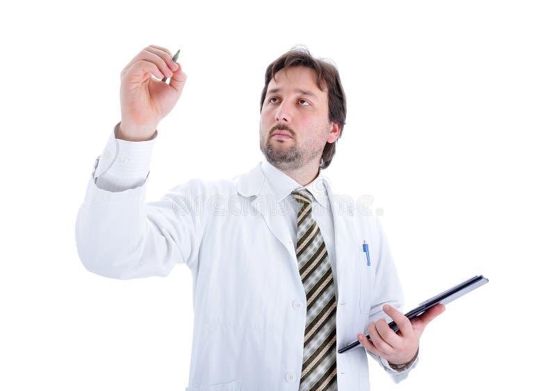 Jonge geïsoleerdee arts stock afbeelding